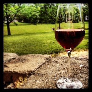 wine in my garden