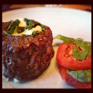 Steak Florentine with Roma Tomatoes and Basil ~ yum!