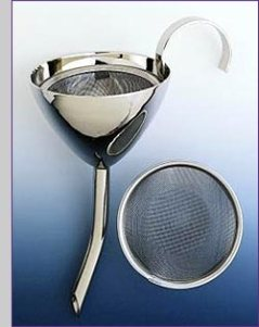 Wine Funnel and Sieve - Image via Artisans on Web
