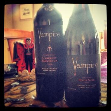 Vampire Vineyards '10 Cabernet Sauvignon and '10 Pinot Noir